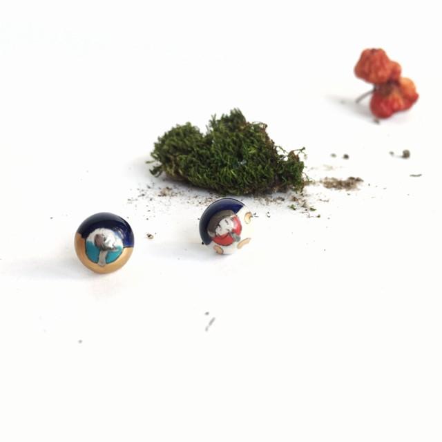 """Keramikos auskarai """"Mažos žemės"""""""