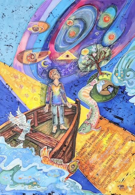 "Šilko batika ""Žvilgsnis į dangų"""